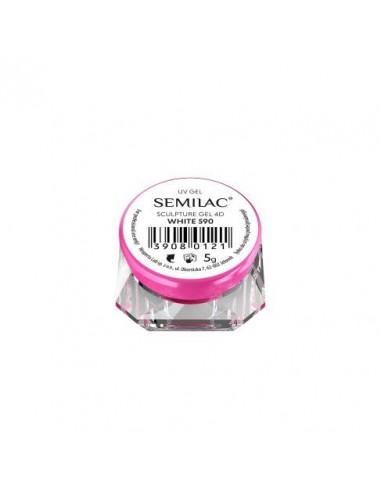 SEMILAC 590 SCULPTURE GEL 4D WHITE 5G